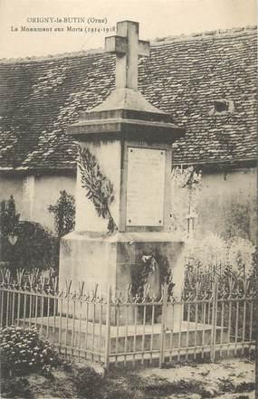 "CPA FRANCE 61 "" Origny le Butin Le monument aux morts""."