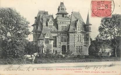 """CPA FRANCE 61 """" St Sulpice sur Risle, Le château""""."""