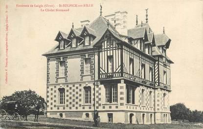 """CPA FRANCE 61 """" St Sulpice sur Risle, Le chalet Normand""""."""