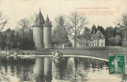 """CPA FRANCE 61 """" St Sulpice sur Risle, Le château de Souchey""""."""