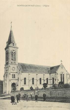 """CPA FRANCE 61 """" Ste Gauburge, L'église""""."""