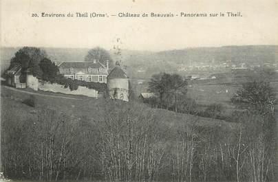 """CPA FRANCE 61 """"Environs du Theil, Le château de Beauvais""""."""