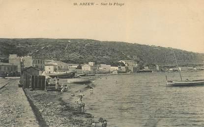 """CPA ALGERIE """"Arzew, sur la plage"""""""