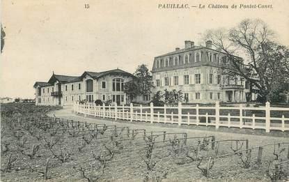 """CPA FRANCE 33 """"Pauillac, le chateau de Pontet Canet"""""""