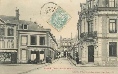 """CPA FRANCE 61 """"L'Aigle, Rue du Tribunal""""."""