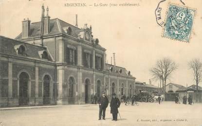 """CPA FRANCE 61 """"Argentan, La gare""""."""