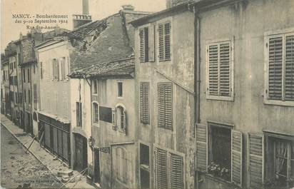 "CPA FRANCE 54 ""Nancy, Bombardement des 09 et 10 septembre 1914 rue Ste Anne""."
