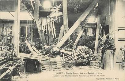 """CPA FRANCE 54 """"Nancy, Bombardement des 09 et 10 septembre 1914 intérieur des établissements Eschenlohr rue de la Hache""""."""