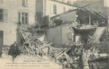 """CPA FRANCE 54 """"Nancy, Bombardement des 09 et 10 septembre 1914, La vinaigrerie rue de la Commanderie""""."""
