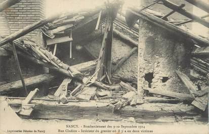 """CPA FRANCE 54 """"Nancy, Bombardement des 09 et 10 septembre 1914, rue Clodion""""."""