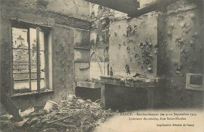 "CPA FRANCE 54 ""Nancy, Bombardement des 09 et 10 septembre 1914, Rue St Nicolas""."