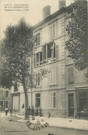 """CPA FRANCE 54 """"Nancy, Bombardement des 09 et 10 septembre 1914 Boulevard Lobau""""."""