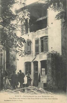 """CPA FRANCE 54 """"Nancy, Bombardement des 09 et 10 septembre 1914""""."""