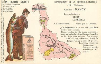 """CPA FRANCE 54 """" Meurthe et Moselle, Publicité sur l'Emulsion Scott""""."""