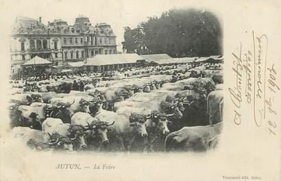 """CPA FRANCE 71 """" Autun, La foire""""."""