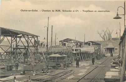 "CPA FRANCE 71 "" Chalon sur Saône, Chantier Schneider et Cie""."