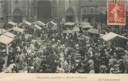 """CPA FRANCE 71 """" Chalon sur Saône, Le marché St Vincent""""."""