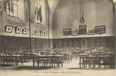 """CPA FRANCE 69 """" Lyon, Lycée Ampère, le grand réfectoire""""."""