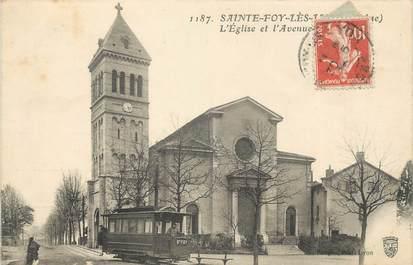 """CPA FRANCE 69 """" Ste Foy les Lyon, L'église""""."""