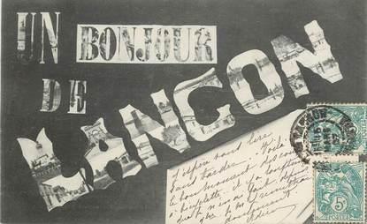 """CPA FRANCE 33 """"Un Bonjour de Langon"""""""