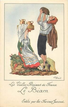 """CPA FRANCE 64 """"Le Béarn, Publicité Farines Jammet""""."""