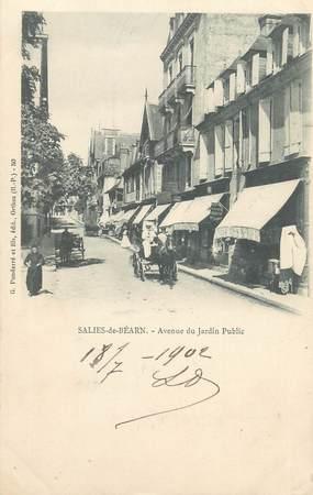 """CPA FRANCE 64 """"Saliès de Béarn, Avenue du jardin public""""."""