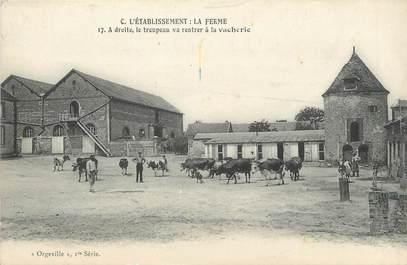 """CPA FRANCE 27 """" Orgeville, La ferme""""."""