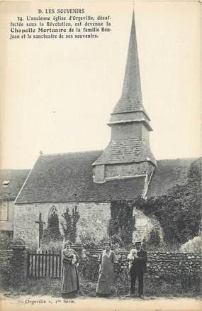 """CPA FRANCE 27 """" Orgeville, Ancienne église""""."""