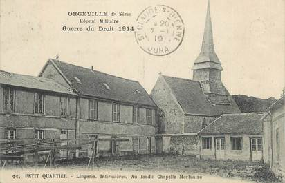 """CPA FRANCE 27 """" Orgeville, Hôpital Militaire""""."""