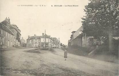 """CPA FRANCE 27 """" Rugles, La place Neuve""""."""