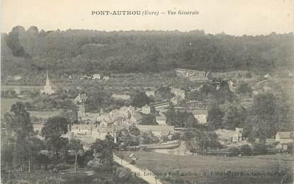 """CPA FRANCE 27 """" Pont Authou, Vue générale""""."""