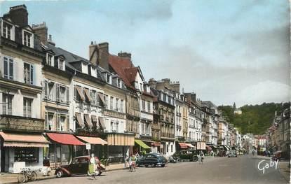 """CPSM FRANCE 27 """" Pont Audemer, Rue de la République""""."""