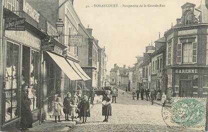 """CPA FRANCE 27 """" Nonancourt, Perspective de la grande rue""""."""
