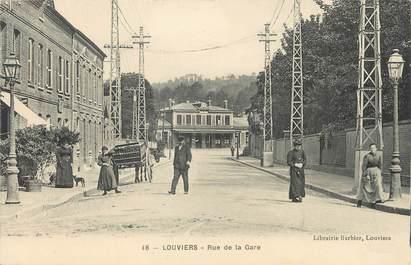 """CPA FRANCE 27 """" Louviers, Rue de la gare""""."""