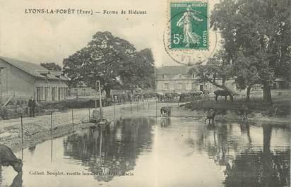 """CPA FRANCE 27 """" Lyons la Forêt, Ferme de hideuse""""."""