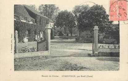 """CPA FRANCE 27 """" Guainville, Manoir du Poirier""""."""