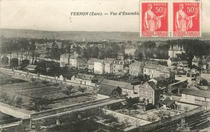 """CPA FRANCE 27 """" Vernon, Vue d'ensemble""""."""