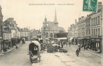 """CPA FRANCE 27 """" St André de l'Eure, Place du marché""""."""