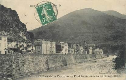 """CPA FRANCE 06 ' Breil, Vue prise du pont supérieur , la Roya""""."""