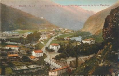 """CPA FRANCE 06 ' Breil, Vue d'ensemble de la gare et ses dépendances de la ligne Nice-Coni""""."""