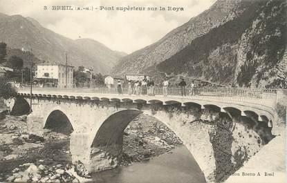 """CPA FRANCE 06 ' Breil, Pont supérieur sur la Roya""""."""