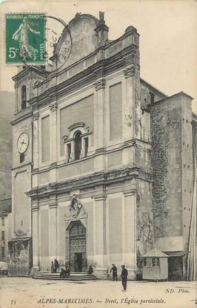 """CPA FRANCE 06 ' Breil, L'église paroissiale""""."""