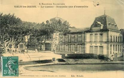 """CPA FRANCE 07 """"Vals les Bains, Le casino, nouvelle vue d'ensemble""""."""
