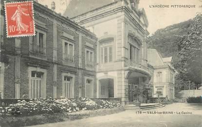 """CPA FRANCE 07 """"Vals les Bains, Le Casino""""."""