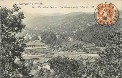 """CPA FRANCE 07 """"Vals les Bains, Vue générale de la vallée de Vals""""."""