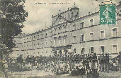 "CPA FRANCE 83 "" Brignoles, Caserne du 8ème colonial""."
