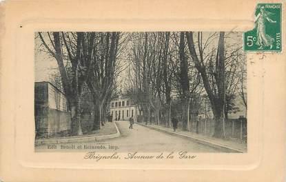 """CPA FRANCE 83 """" Brignoles, Avenue de la gare""""."""