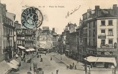 """CPA FRANCE 42 """" St Etienne, Place du Peuple""""."""