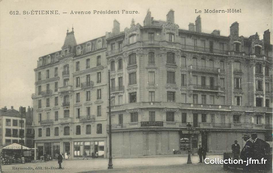 cpa france 42 st etienne avenue du pr sident faure le modern h tel 42 loire saint. Black Bedroom Furniture Sets. Home Design Ideas