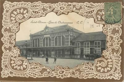 """CPA FRANCE 42 """" St Etienne, Gare de Chateaucreux""""."""